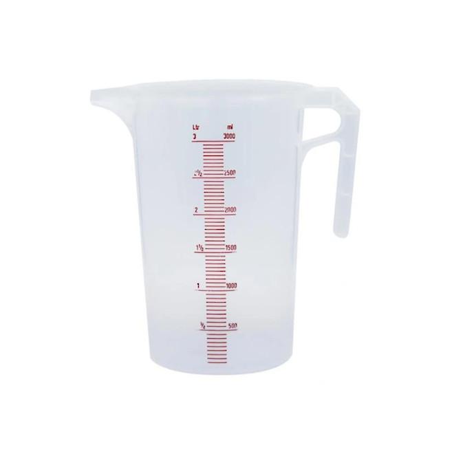 3 Litre Plastic Measuring Jug image 0