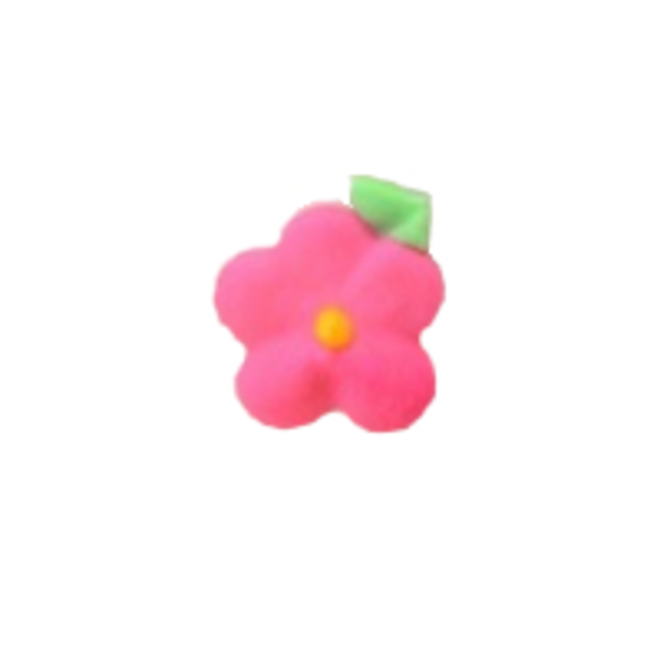 Icing Drop Flowers Pink with leaf 19mm (Packet of 24) image 0