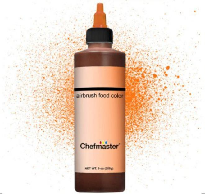 Chefmaster Airbrush Liquid Sunset Orange 9oz image 0