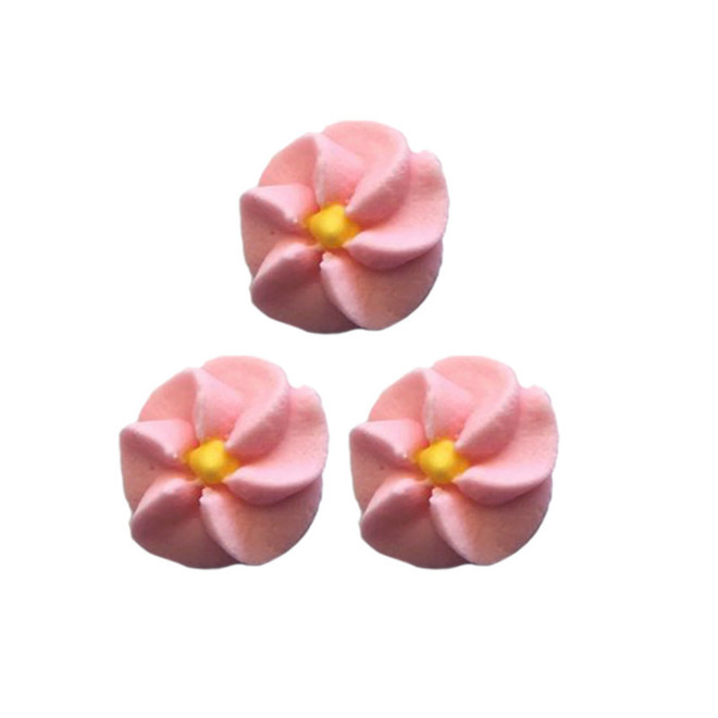 Icing Pink Drop Flowers 18mm (Packet of 50) image 0