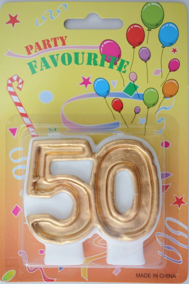 Candle 50 Numeral Gold image 0