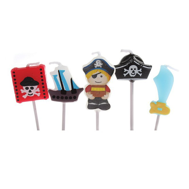 Candles Birthday Pirate 5pce image 0