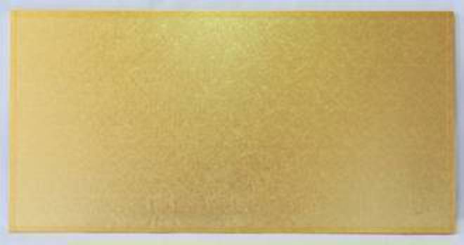 """560mm x 360mm 22"""" x 14"""" Rectangle 4mm Cake Card Gold image 0"""