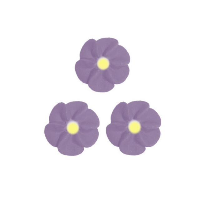 Icing Plum Frost Drop Flowers 18mm (Packet of 50) - DELETE WHEN SOLD image 0