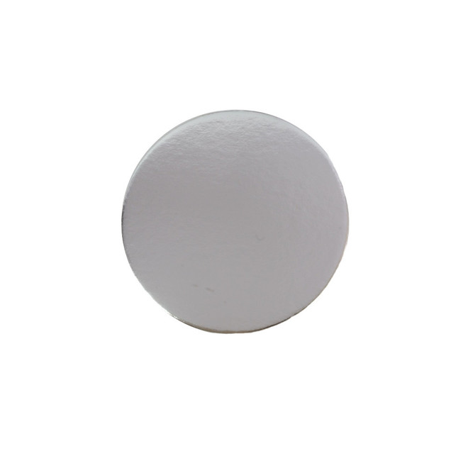 """100mm or 4"""" Round 2mm Cake Card Silver image 0"""