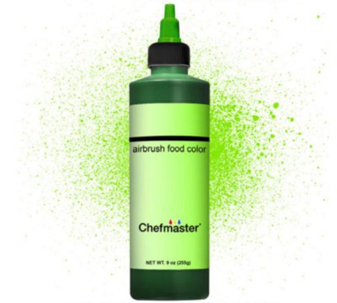 Chefmaster Airbrush Liquid Brite Green 9oz image 0