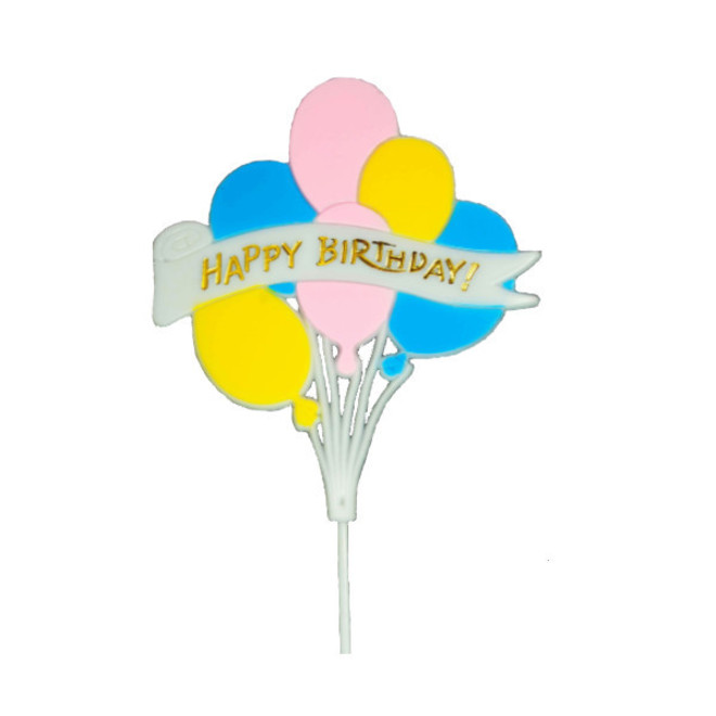 Happy Birthday with Balloons Pic 175mm (6) image 0