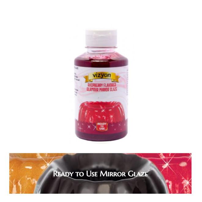 Raspberry Mirror Glaze 0.5kg Bottle image 0
