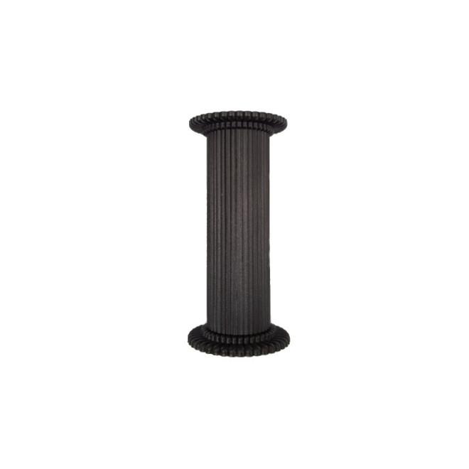 Round Fine Fluted Black (Matt)  Pillar 75mm image 0