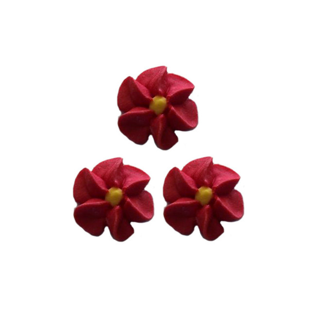 Icing Red Drop Flowers 18mm (Packet of 50) image 0