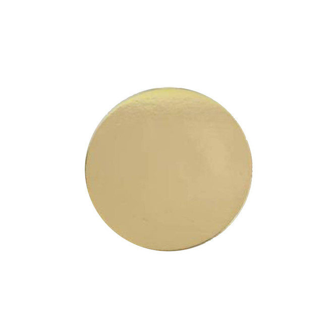 """130mm or 5"""" Round 2mm Cake Card Gold image 0"""