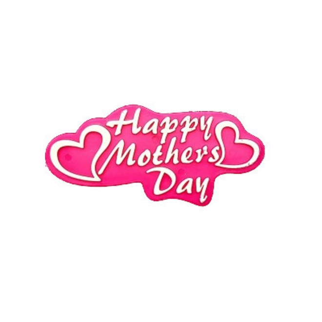 Happy Mothers Day Heart Plaque-Plastic  75 X 35 mm image 0