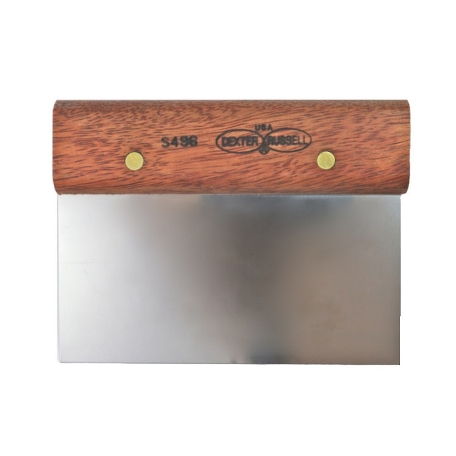 Wooden Handle Bench Scraper. Extremely durable. 150mm image 0