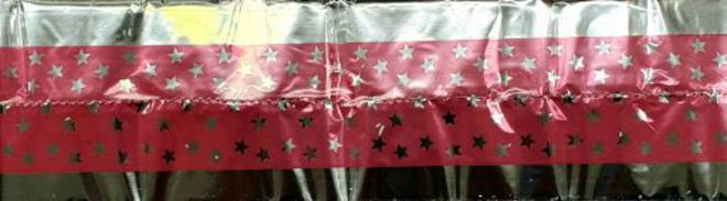 Cake Band Star Pink/Silver 63mm (1m) image 0