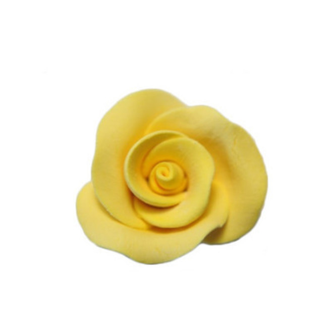 Icing Yellow Roses 30mm, box of 52 image 0