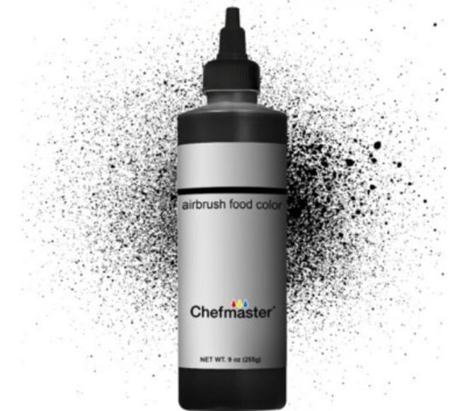 Chefmaster Airbrush Liquid Black 9oz image 0