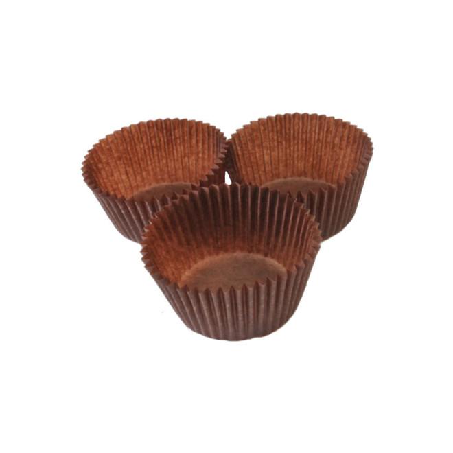 Mini muffin Paper Cases Brown 34x25mm (500) image 0