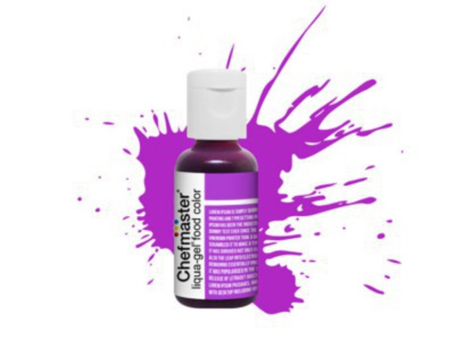Chefmaster Liqua Gel Neon Brite Purple .70oz Bottle image 0