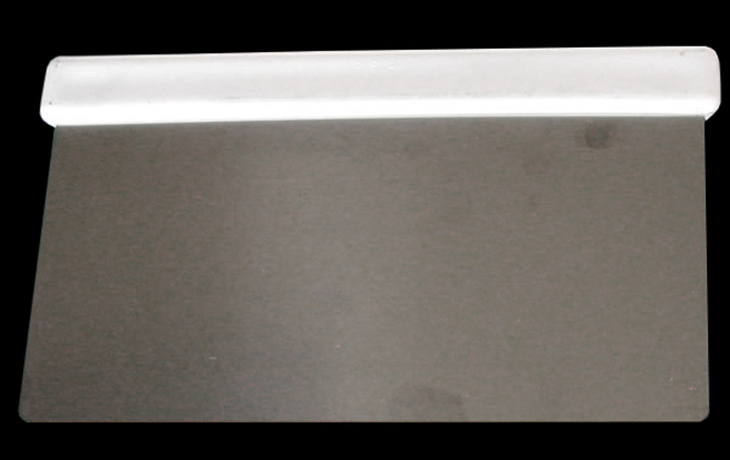 Rigid stainless steel Dough scraper 175x100mm (Italian) image 0