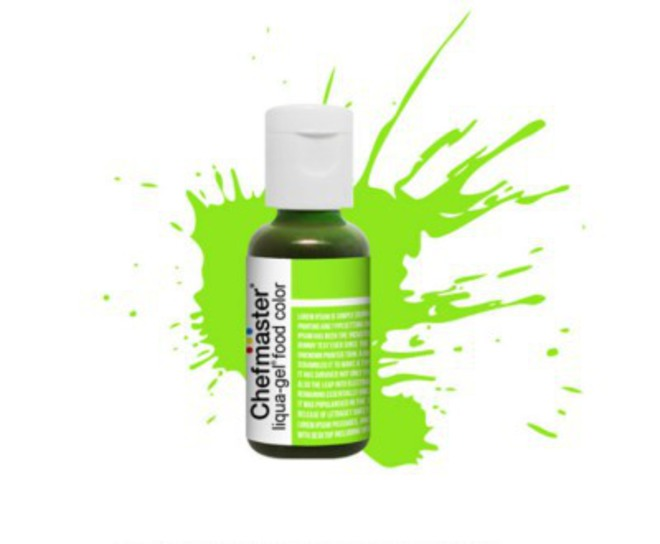 Chefmaster Liqua Gel Neon Brite Green .70oz Bottle - SOLD OUT image 0