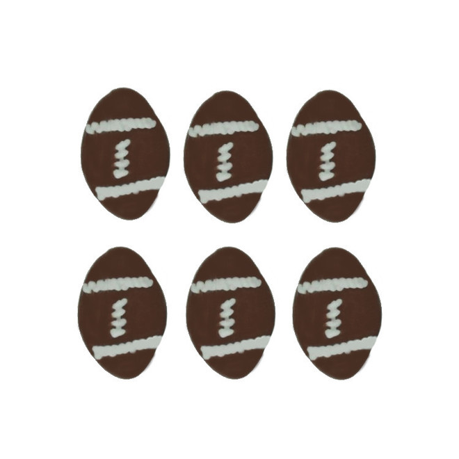Rugby Balls, 2D Icing (Retail Box of 10) image 0