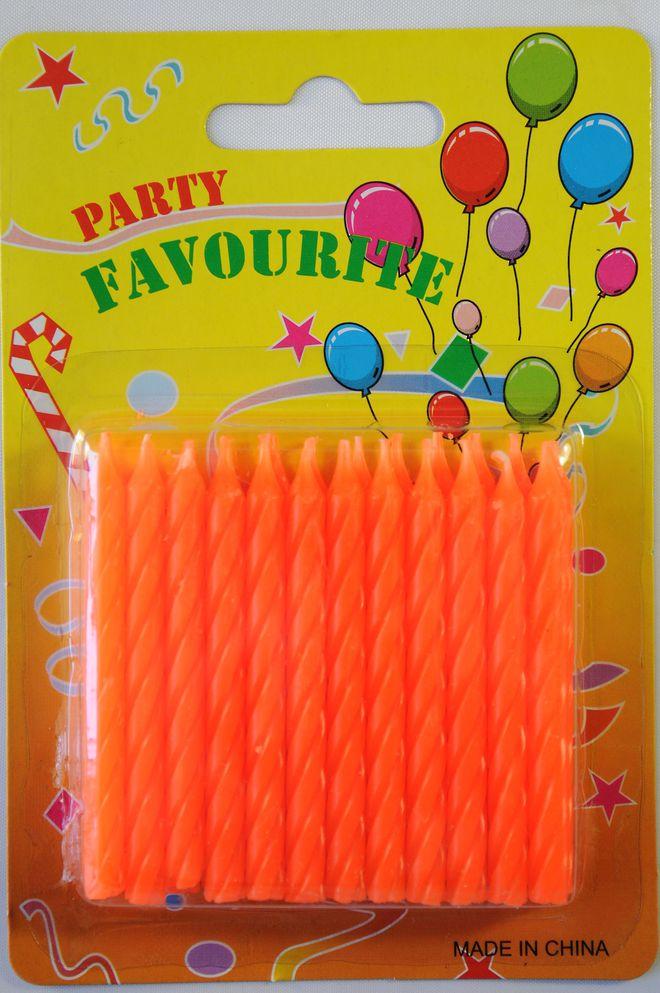 Candle Twist Orange (24) image 0