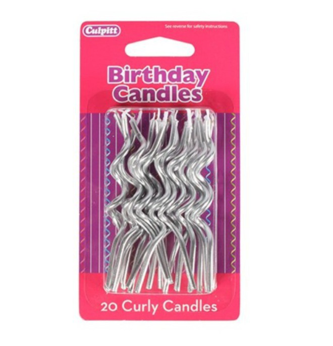 Candle Spiral Silver (20) image 0