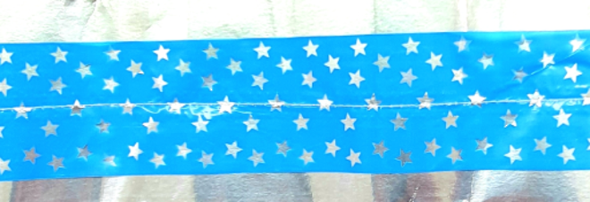 Cake Band Star Blue/Silver 63mm (1m) image 0