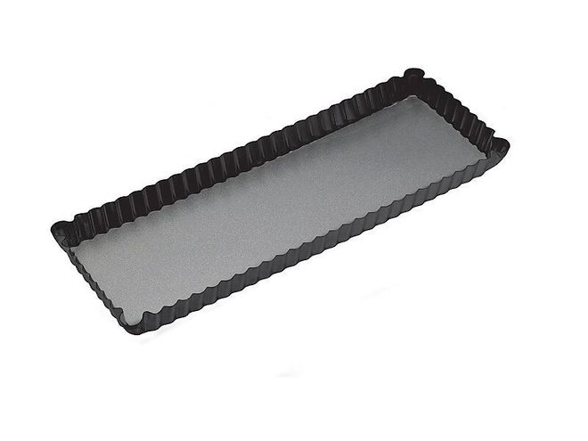 Oblong Quiche Tin, Teflon Coated, Loose base: 360x130x30mm - SOLD OUT image 0