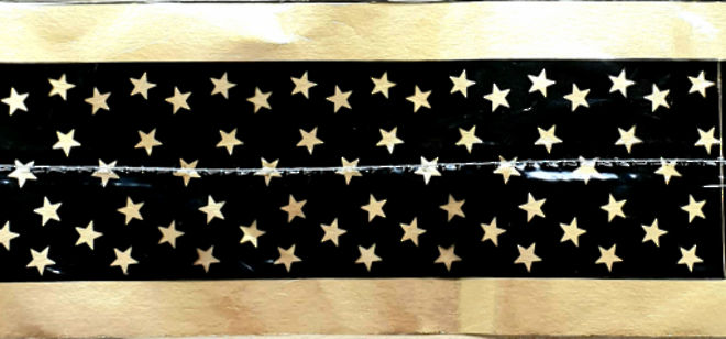 Cake Band Star Black/Gold 63mm (7m) image 0