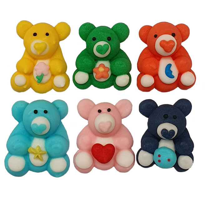 Icing Teddy Bears, 25mm - 128 per box (21 sets of 6). image 0