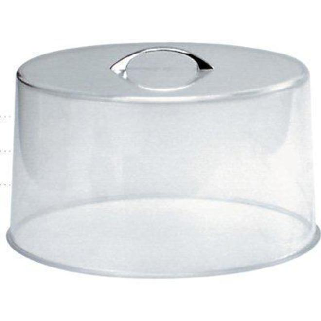 Round Lid Clear Acrylic with Chrome Handle diameter 26cm, height 13cm image 0