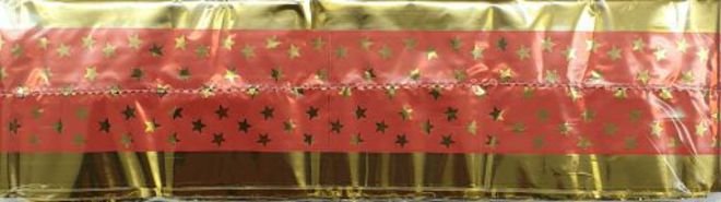 Cake Band Star Pink/Gold 63mm (7m) (sold out) image 0
