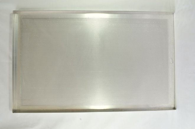 Perforated Aluminium Baking Tray 3-sided - 735x406x25mm image 0