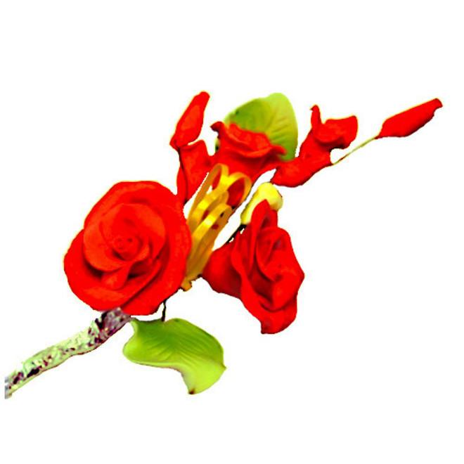Icing Tea Rose Spray, Red 120mm, (Box of 3) image 0