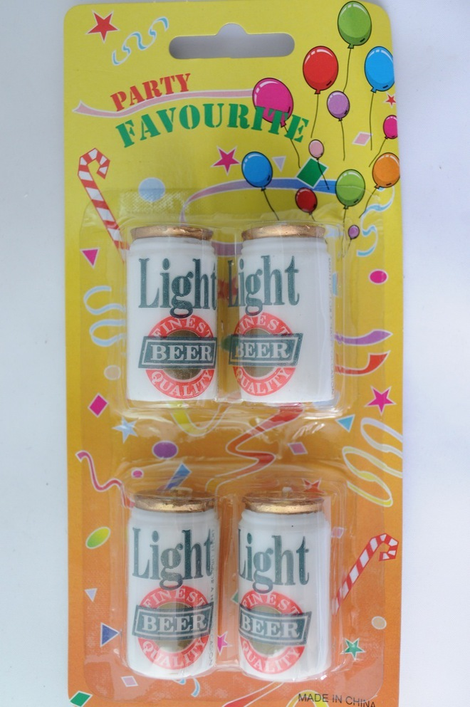Candle Beer Cans (4) image 0