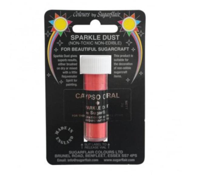 Sugarflair Edible Sparkle Dust *Calypso Coral* 2gm image 0