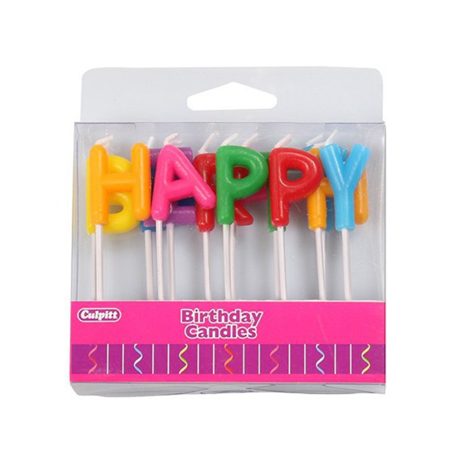 Candle Happy Birthday Letters image 0