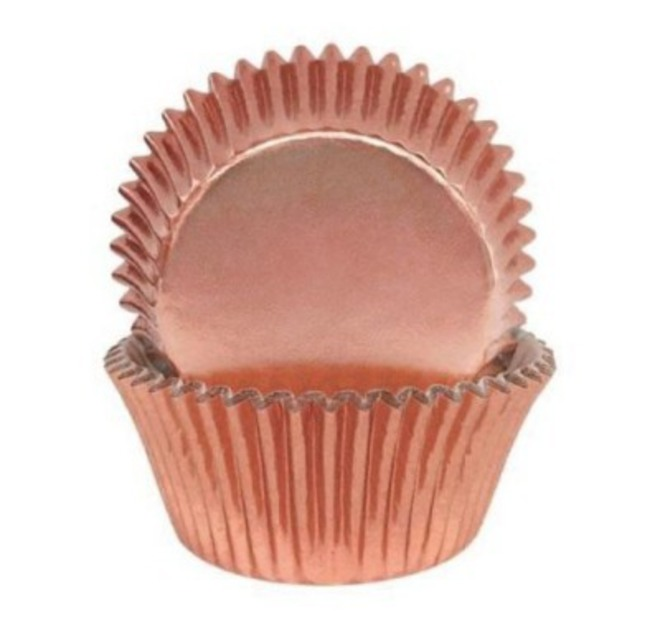 Foil Rose Gold Baking Cups 50x35mm (500) image 0