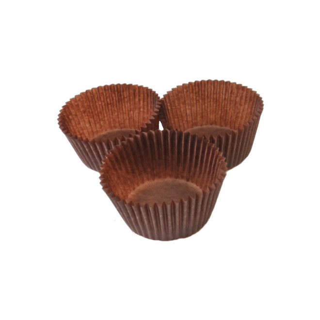 Cupcake Paper Cases Brown 44x30mm (500) image 0