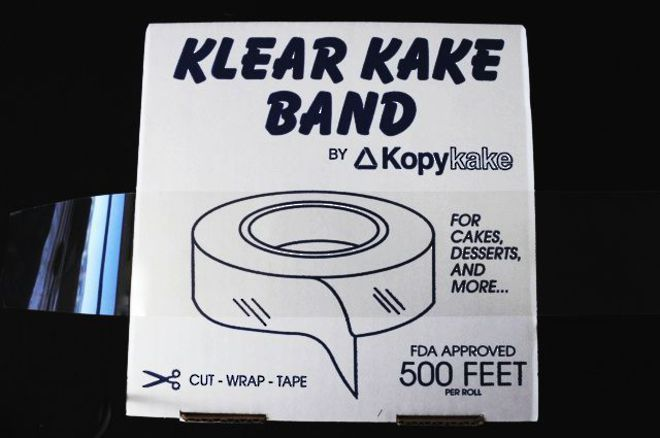 "2.5"" (65mm) Clear Cake Band (152.4 mtr) image 0"
