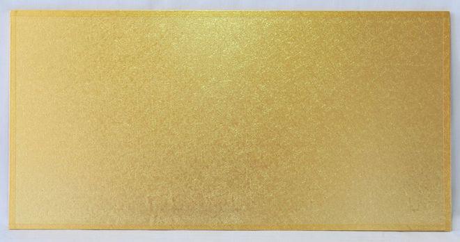 """510mm x 355mm   20"""" x 14"""" Rectangle 4mm Cake Card Gold image 0"""