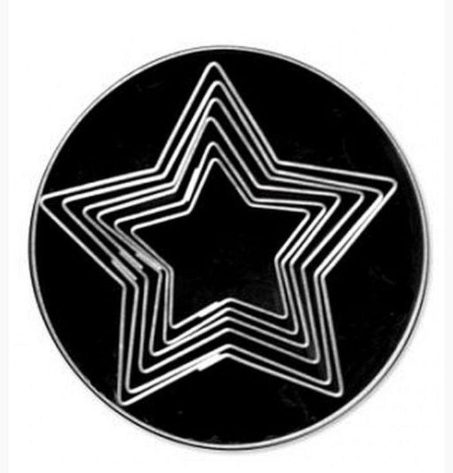 Plain 5 Point Star Cutter Set (6) image 0