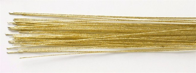 24 Gauge Gold Covered Wire (50) image 0