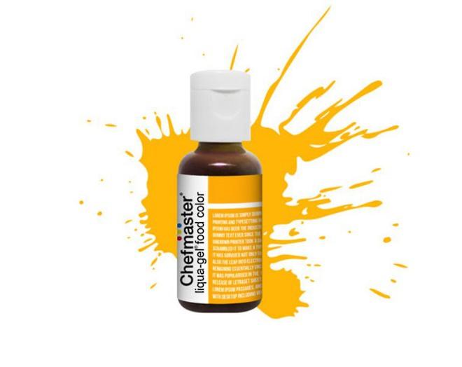 Chefmaster Liqua Gel Golden Yellow (Box of 12) image 0