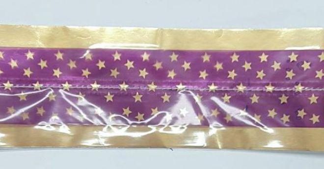 Cake Band Star Purple/Gold 63mm (7m) image 0