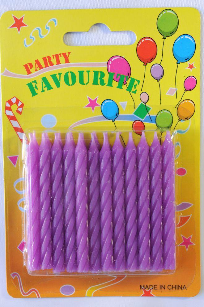 Candle Twist Purple (24) image 0