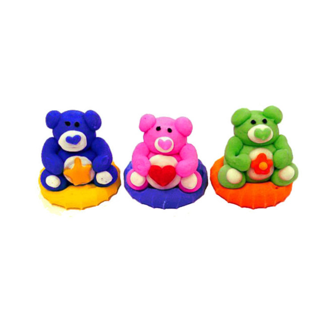 Bear Faces (Assorted) 3D Icing.  Retail Box of 6, 20mm image 0