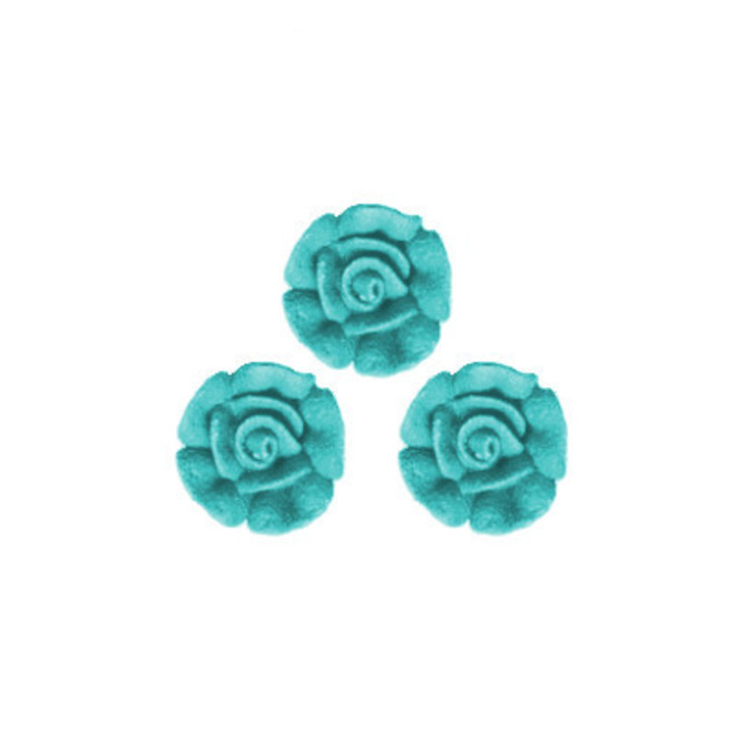 Icing Blue Roses 10mm, packet of 24 - DELETE WHEN SOLD image 0