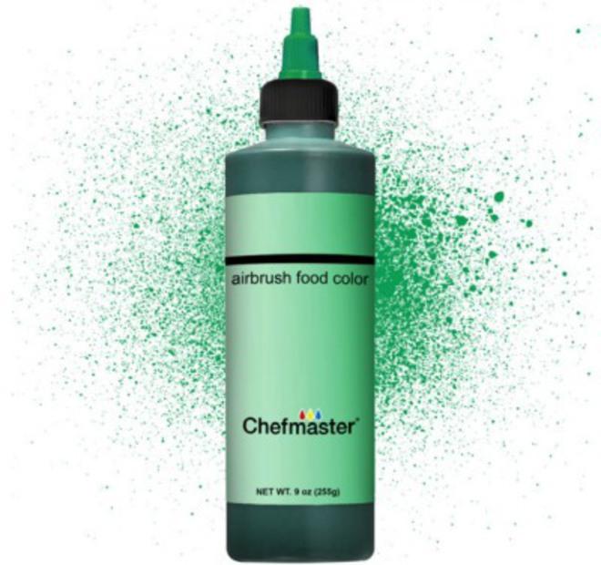 Chefmaster Airbrush Liquid Spring Green 9oz image 0